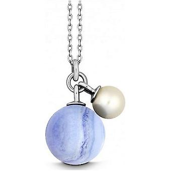 QUINN - Necklace - Silver - Gemstone - Chalcedony - Freshwater - 27601415