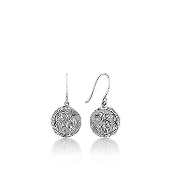 Ania Haie Sterling Silver Rhodium Plated Emblem HookEarrings E009-05H