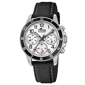 Lotus Watch L18581-1-JUNIOR Nylon ranne koru musta laatikko sekoitettu teräs