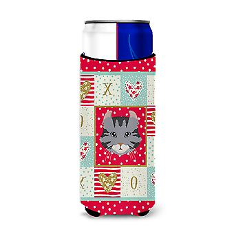 American Curl Cat Michelob Ultra Hugger for slim cans