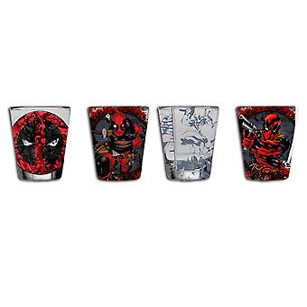 Deadpool Mini Glass 4-Pack