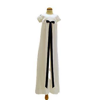 Dopklänning Grace Of Sweden, Stilren Med Mörk Blå Rosett  Pr.ka