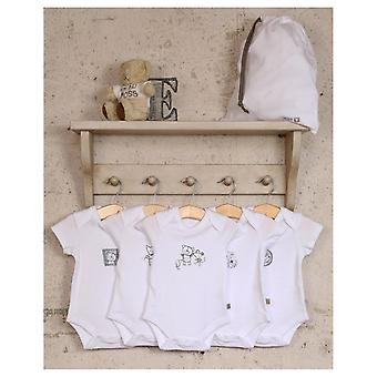 The Essential One 5 Pack Mono Animal Frames Bodysuits
