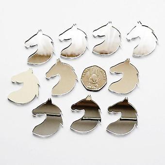 Rounded Horse Head Mane Mini Craft Sized Acrylic Mirrors (10Pk)