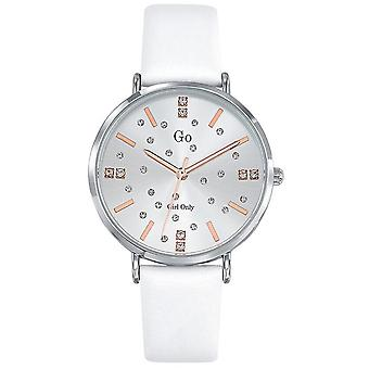 Watch Go Girl Only 699933 - Silver Steel Bracelet White Leather Women