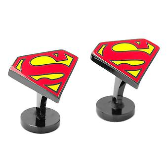 DC Comics Superman Shield Enamel Cufflinks