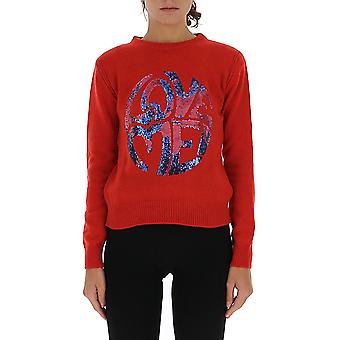 Alberta Ferretti 09441603j0114 Women's Red Cashmere Sweater