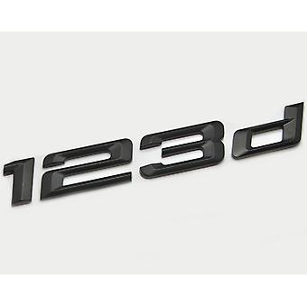Matt Negro BMW 123d coche modelo de arranque trasero número carta etiqueta etiqueta etiqueta insignia emblema para 1 serie E81 E82 E87 E88 F20 F21 F52 F40