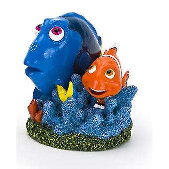 Sandimas Dory e Marlin con corallo, 6cm (pesce, decorazione, ornamenti)