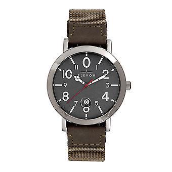 Elevon Mach 5 Canvas-Band Watch w/Date - Beige