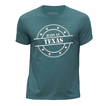 STUFF4 Boy's Round Neck T-Shirt/Made In Texas/Ocean Green