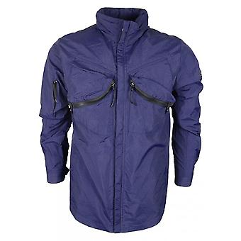 883 Police Romsey Nylon Zip Up Blue Jacket