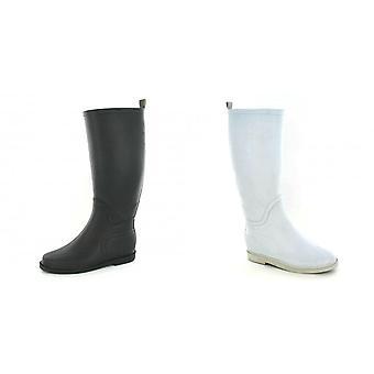 Spot On Womens/Ladies Plain Flat Wellington Boots