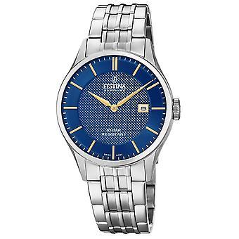 Festina Swiss F20005-3 Men's Swiss Made Blue Dial Wristwatch