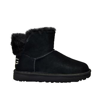 Ugg Classicblingminib Women's Black Suede Ankle Boots