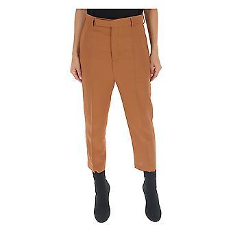 Rick Owens Ro19f5309we173 Women's Brown Wool Pants