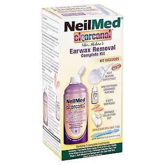 Neilmed clearcanal ear wax removal complete kit, 2.5 oz