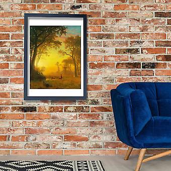 Albert Bierstadt - Light in the Forest Poster Print Giclee