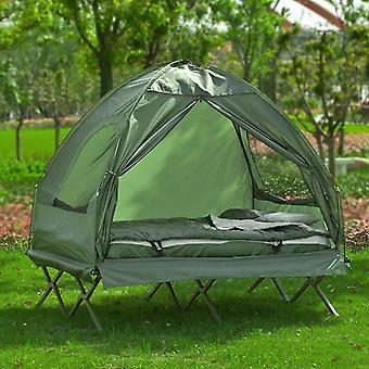 SoBuy 2 Person faltbare Camping Zelt mit Schlafsack OGS32-L-GR