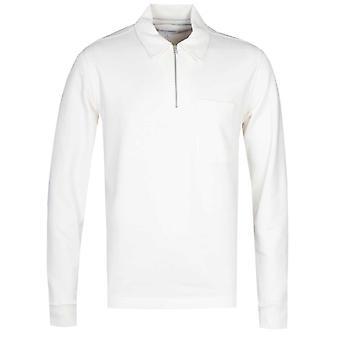 Norse Projects Jorn Half-Zip White Sweatshirt