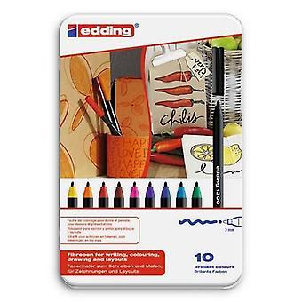 edding-1300 bunda. caneta de cor 10PC 3 mm / 4-1300-10