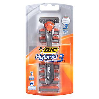 Bic hybrid advance for men, shaver system, 1 ea