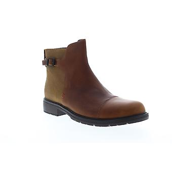 Camper Mil  Womens Brown Leather Strap Casual Dress Boots