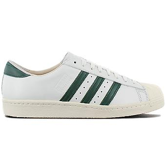 adidas Originals Superstar 80s Recon - Pelle Bianco-Verde Scarpe B41719 Sneakers Scarpe Sportive