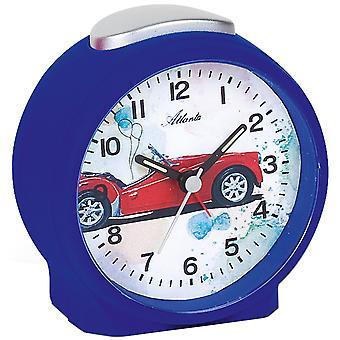 Atlanta 1981/5 Herätyskello lapsille lasten herätyskello auton sininen hiljainen auton herätyskello