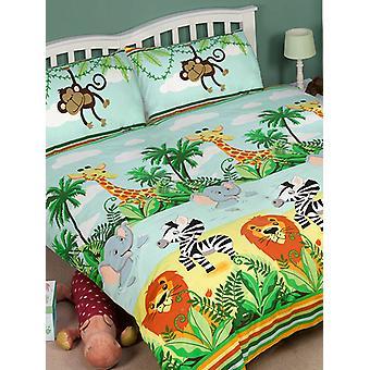 Jungle-Tastic Duvet Cover and Pillowcase Set