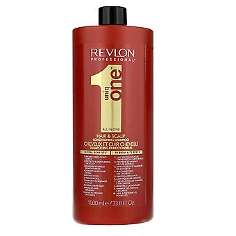 Revlon Professional Uniq One Hair and Scalp Condition and Shampoo 1000ml (10 Real Benefits)