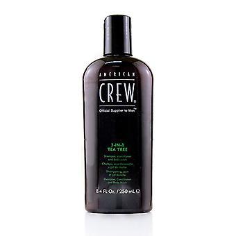 Men 3-in-1 Tea Tree Shampoo Conditioner And Body Wash - 250ml/8.4oz