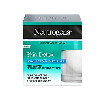 Neutrogena Skin Detox Double Action Hydratant 50ml Anti Oxidant Skin Cell Boosting