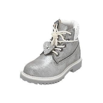 Lumberjack River Kids Girls Boots Silver Lace-Up Boots Winter