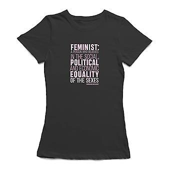 Feminist Definition Graphic Quote Women's T-shirt
