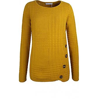 Bianca Mustard Textured Knit Jumper
