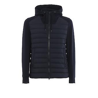 Herno Pc0114u192889292 Men's Blue Nylon Outerwear Jacket