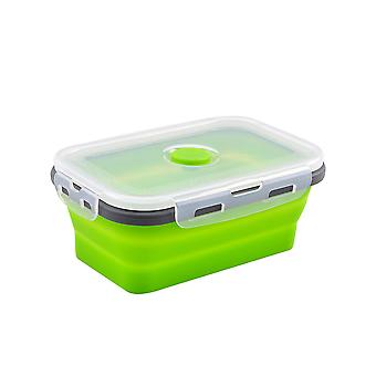 Rectangular silicone folding fresh-keeping box, sealed food storage container , leak-proof foldable fresh storage box