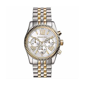 Michael Kors MK5955 Lexington Ladies Chronograph Klokke - Sølv/Gull