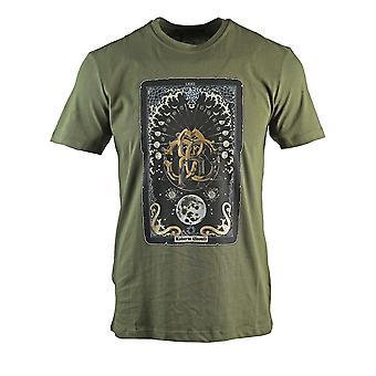 Roberto Cavalli Card Logo T-Shirt vert