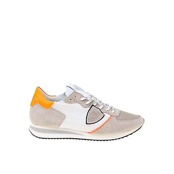 Philippe Modelo Tzluwp10 Men's Bege/White Leather Sneakers
