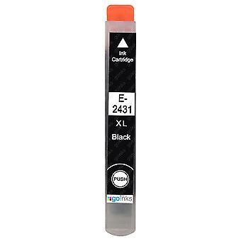 1 Schwarze Tintenpatrone ersetzt Epson T2431 (24XL-Serie) Kompatibel/Nicht-OEM von Go-Tinten