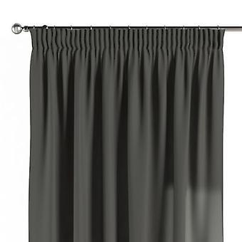 Vorhang mit Kräuselband, grau, 130 × 260 cm, Quadro, 136-14