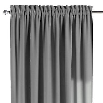 Vorhang mit Tunnel und Köpfchen, grau, 130 × 260 cm, Loneta, 133-24