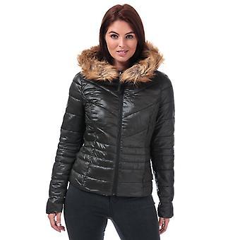 Women's Vero Moda Soraya Siv Faux Fur Trim Jacket in Green