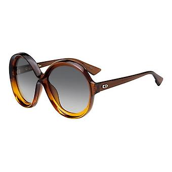 Dior Bianca 12J/9O Brown-Orange/Dark Grey Gradient Sunglasses