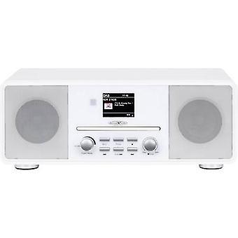 Reflexion HRA19DAB/WH Radio birou DAB+, FM AUX, Bluetooth, CD Alb