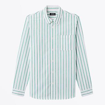 A.P.C.  - Rami - Cotton Striped Shirt - White/Green