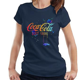 Coca Cola Colour Paint Spatter Women's Camiseta
