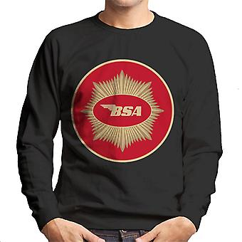 BSA Motorcycle Red Logo Men's Sweatshirt